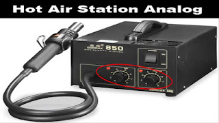 This hot-air rework station is great for professionals and hobbyists in need of tight temperature tolerances and large air flows