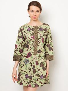 baju batik kerja wanita lengan panjang