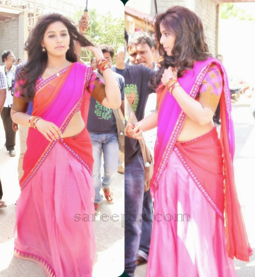 Anjali In Half Saree At Her New Tamil Movie Launch