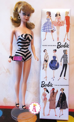 Барби в полосатом купальнике 1993 года