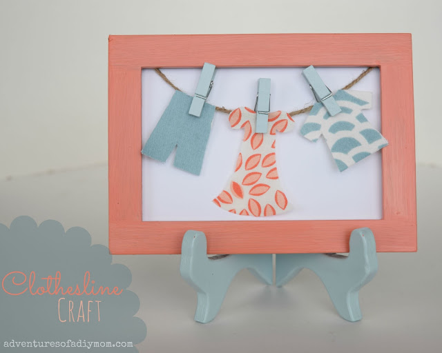 Clothesline Craft - Laundry Room Makeover