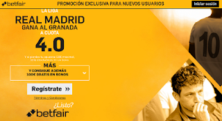 betfair supercuota 4 Real Madrid gana al Granada Liga 7-1