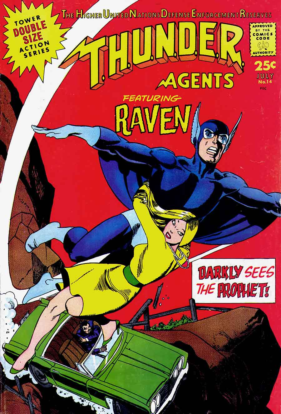 Thunder Agents v1 #14 tower silver age 1960s comic book cover art