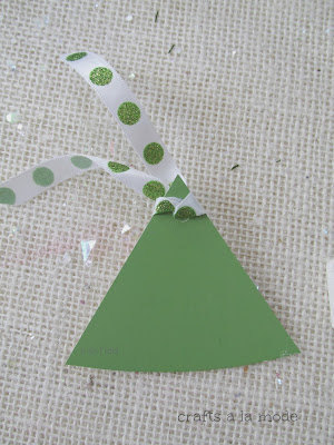 green paint chip Christmas tree tag