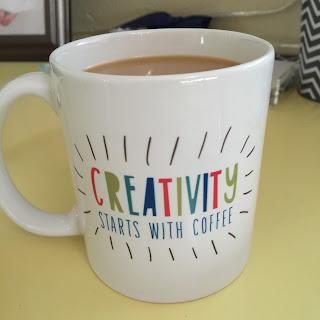 creativity starts with coffee mug