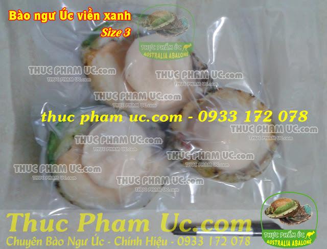 thực phẩm úc bào ngư úc viền xanh size 3 con