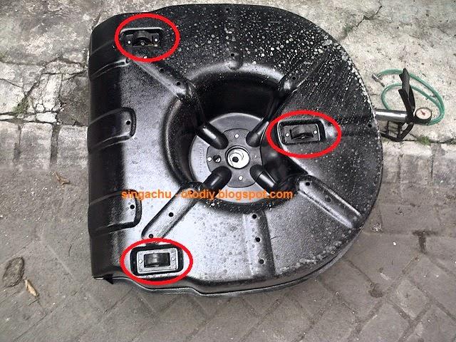 Cover Ban Serep Grand New Avanza Brosur 2018 Diy Menurunkan Dan Menaikkan Kijang Innova Pada Terdapat 3 Roda Fungsinya Untuk Memudahkan Menarik Mengembalikan Dari Ke Kolong Mobil Cuman Newbie Mendapati Putaran Rodanya