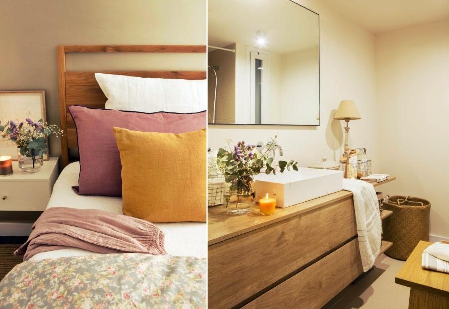 wystrój wnętrz, wnętrza, urządzanie mieszkania, dom, home decor, dekoracje, aranżacje, open space, glass wall, otwarta przestrzeń, szklana ściana, sypialnia, bedroom
