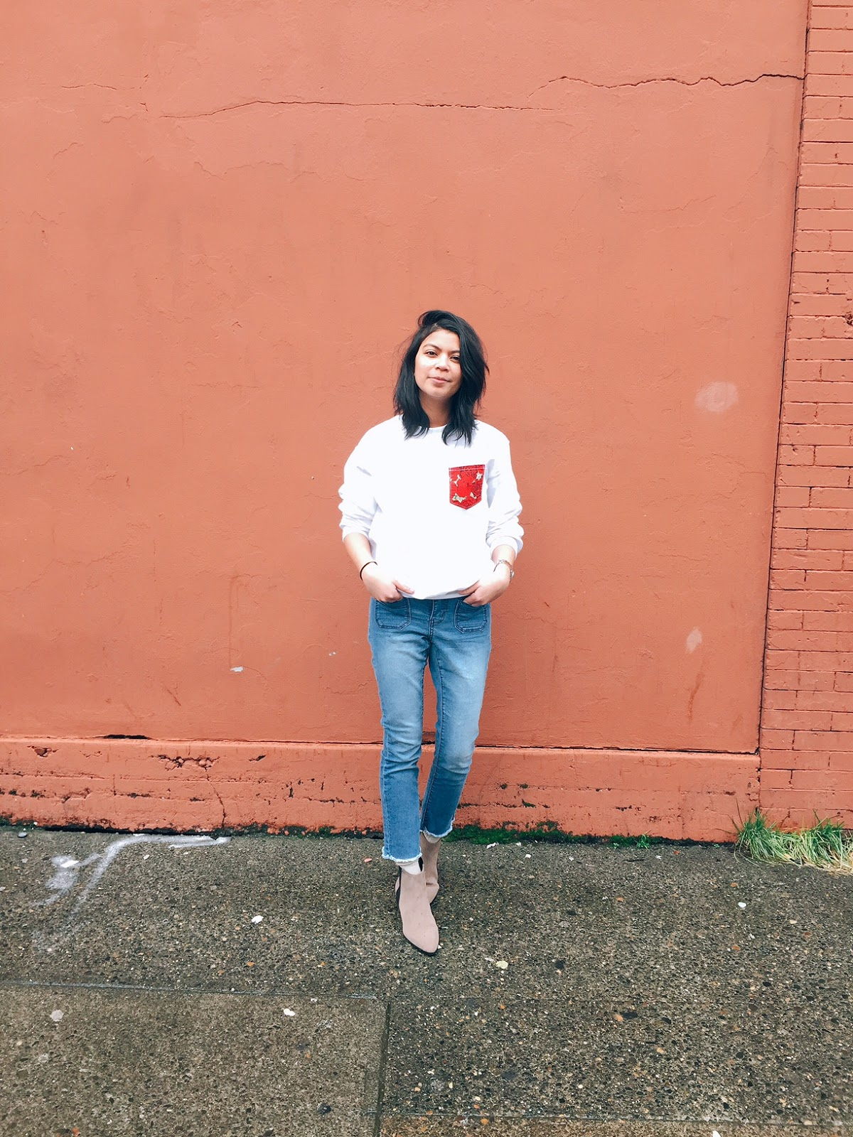 athleisure, brown boots, casual outfit, cropped denim jeans, outfit of the day, portland fashion blogger, portland lifestyle blogger, street style, sweatshirt,