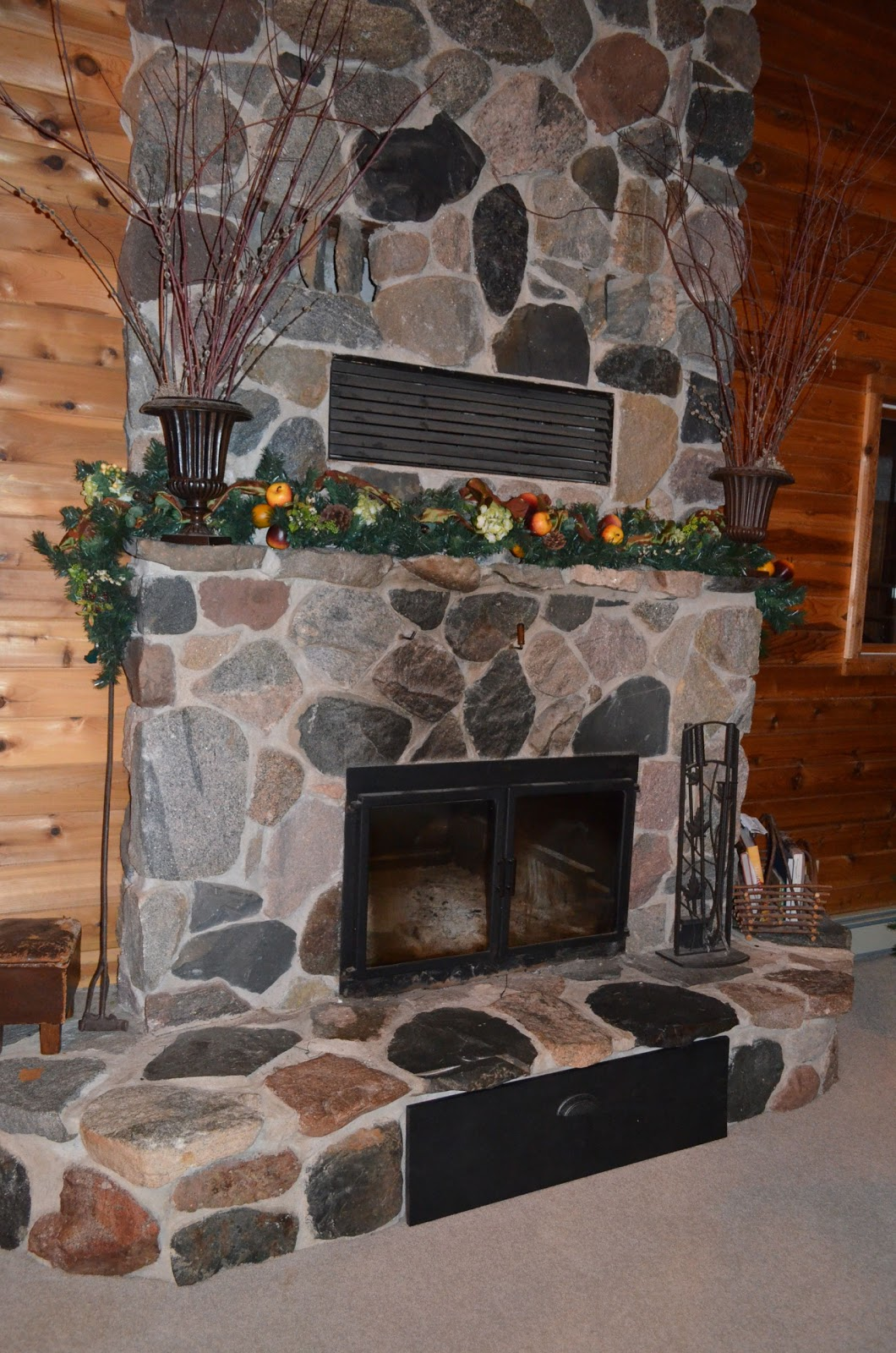 Artful Panoply: Fireplace Vent Cover to Keep out Draft