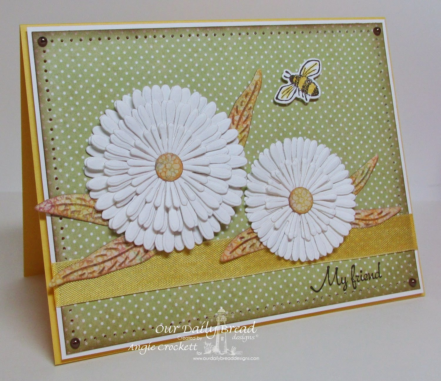 ODBD My Friend, Zinnia, Asters and Leaves Die Set, Zinnia and Leaves Die Set, Blushing Rose Designer Paper Collection, Card Designer Angie Crockett