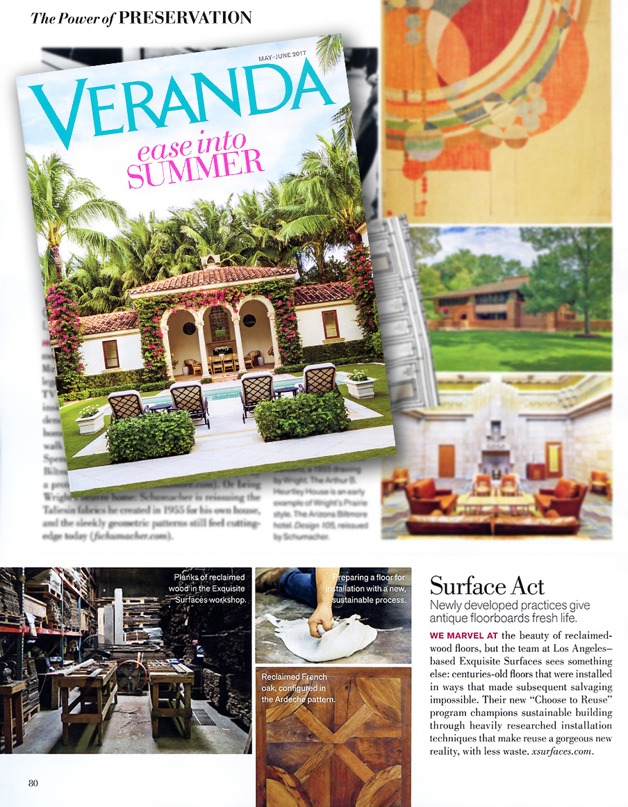 Exquisite Surfaces Featured In The Article Of Preservation May June Issue Veranda Magazine Click Here To See Full