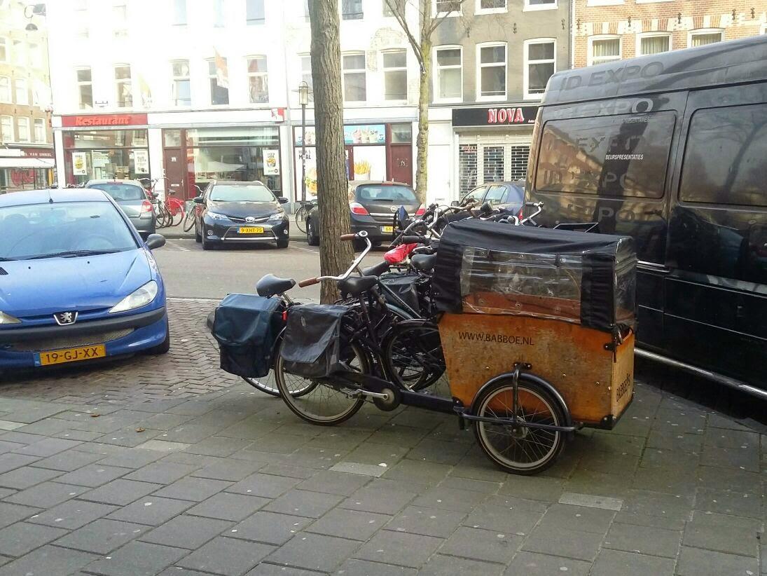 bakfiets yang sudah dimodifikasi