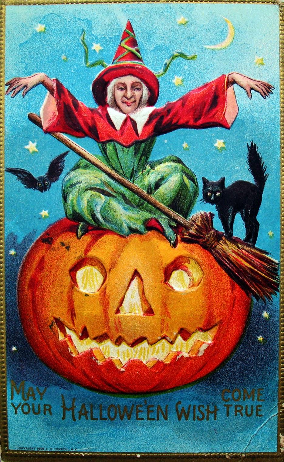 Vintage Halloween Postcards C 1910 S Vintage Everyday