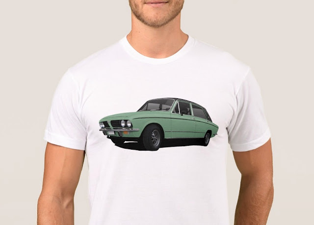 Car illustration t-shirt Triumph