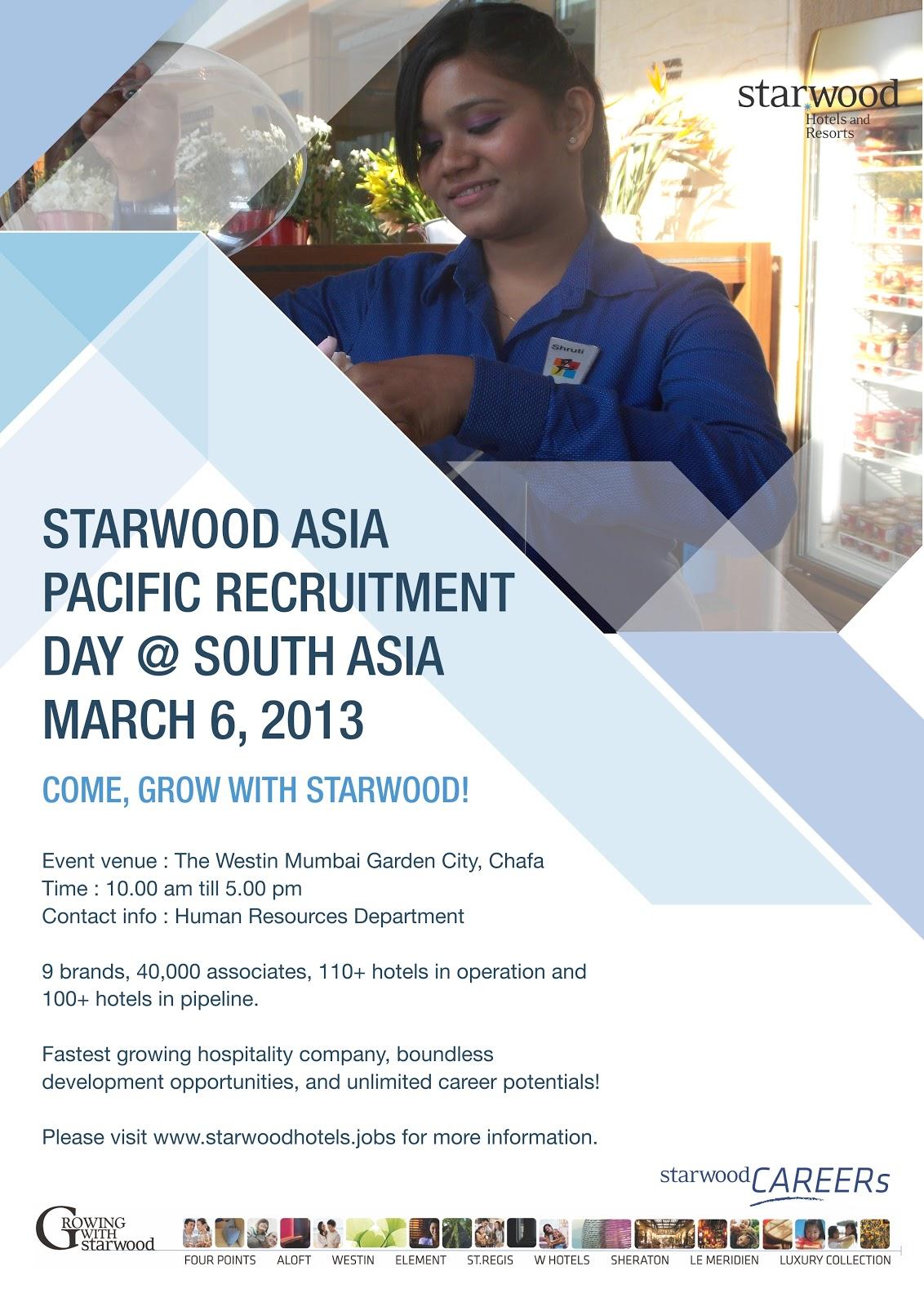 The Westin Mumbai Garden City Starwood Asia Pacific Recruitment Day