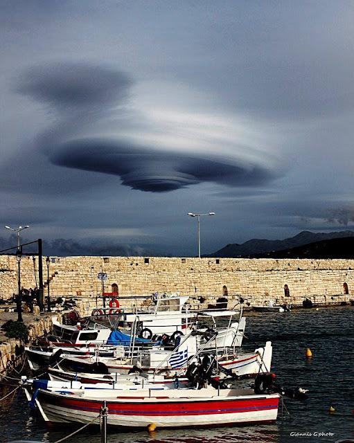 Απίστευτες εικόνες στον ουρανό της Κρήτης – Δείτε τι σχηματίστηκε στο Ρέθυμνο