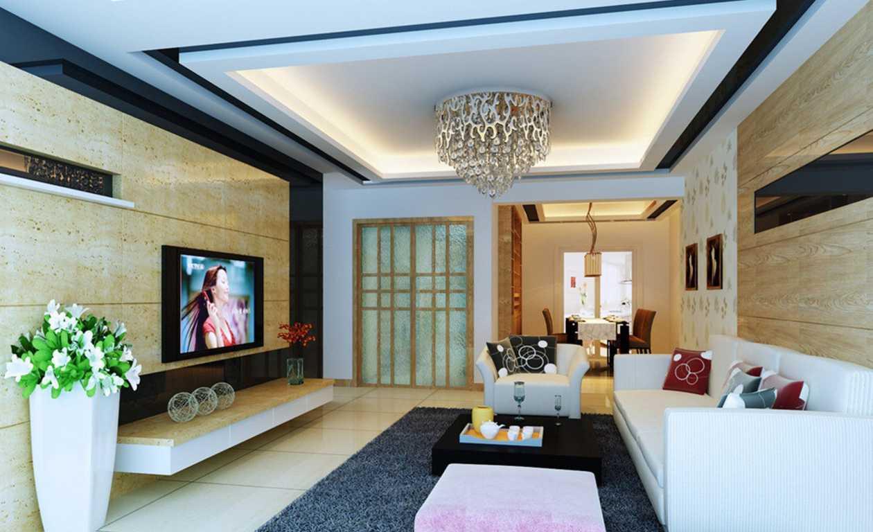 Model-ruang-keluarga-terbaik-2017-dengan-bentuk-plafon-terkini