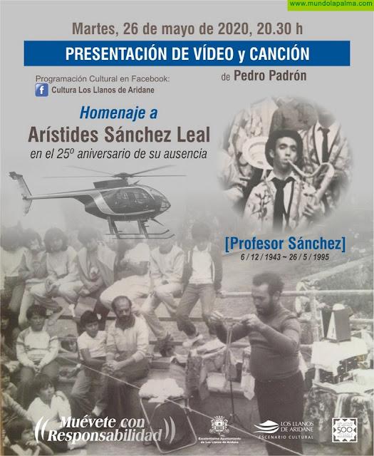 """Los Llanos de Aridane difunde un vídeo homenaje de Pedro Padrón al """"Profesor Sánchez"""" en el 25 aniversario de su fallecimiento"""
