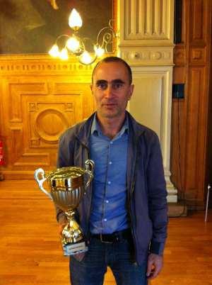 Namig Guliyev, vainqueur du Rapide du 7e Festival du Marais - Photo © Chess & Strategy
