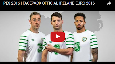 PES 2016 Ireland Facepack Euro 2016