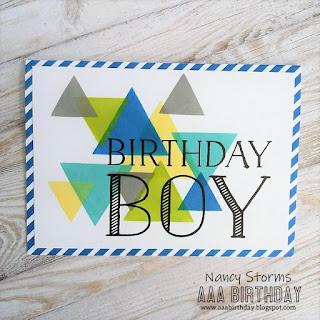 AAA Birthday Challenge - For the boys