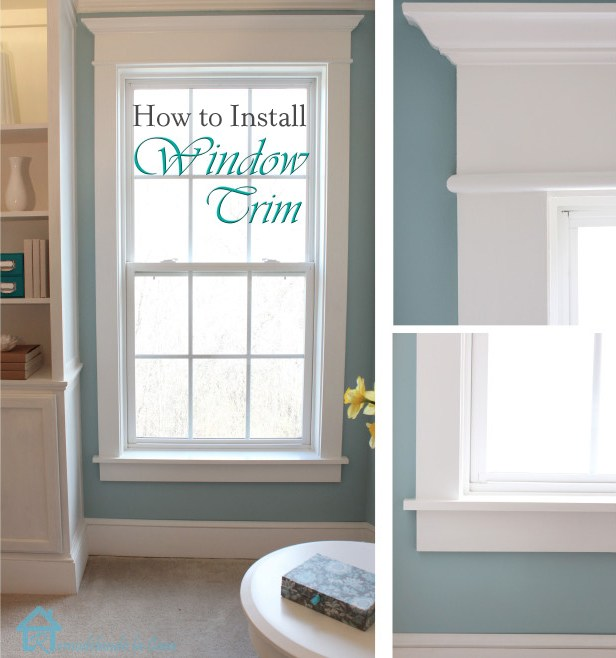 plain windows are prettied up with trim.