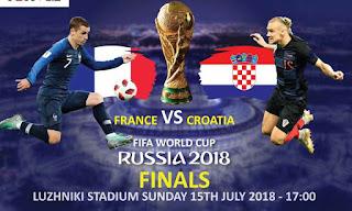 مباراة فرنسا و كرواتيا بث مباشر اليوم نهائي كأس العالم روسيا 2018