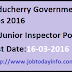 Puducherry Government Jobs 2016 – Apply for 40 Junior Inspector Posts