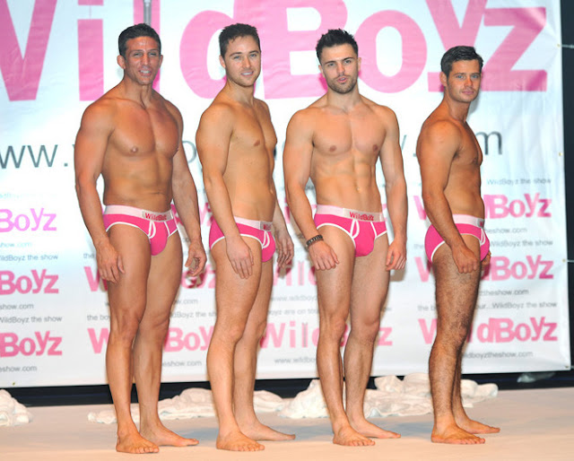 From left to right: Alex Reid, Marcus Patrick, Dale Howard and Danny Young • 'WildBoyz'