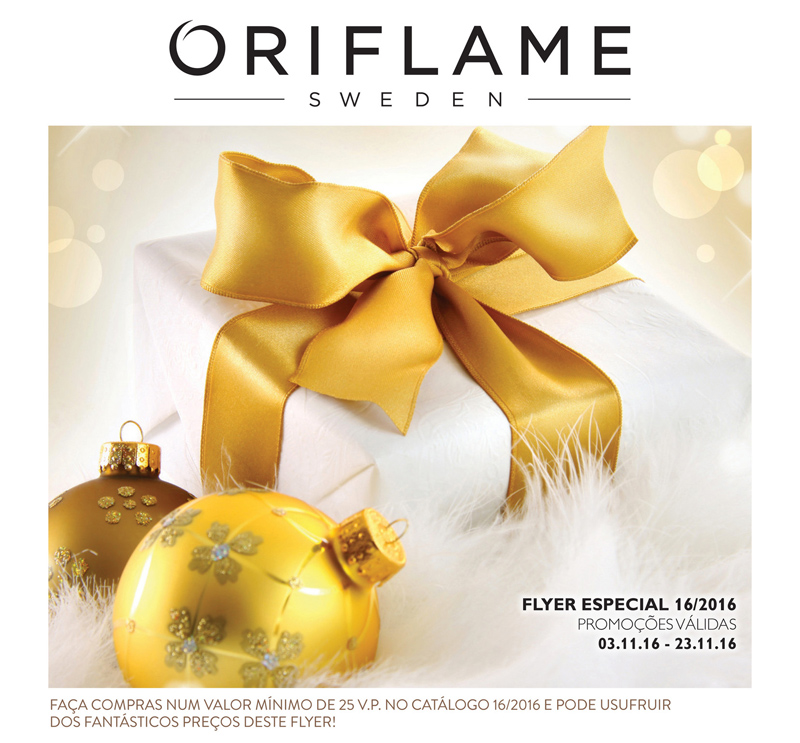 Flyer do Catálogo 16 de 2016 da Oriflame
