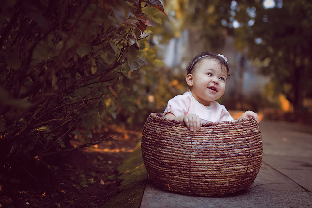 mamatha photography in goa captures a baby in a basket