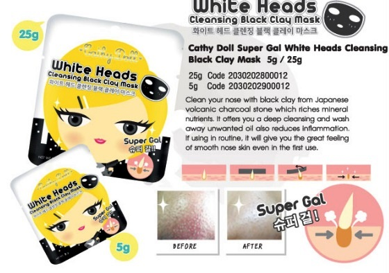 [Review] Black Heads Cleansing White Clay Mask dari Cathy Doll