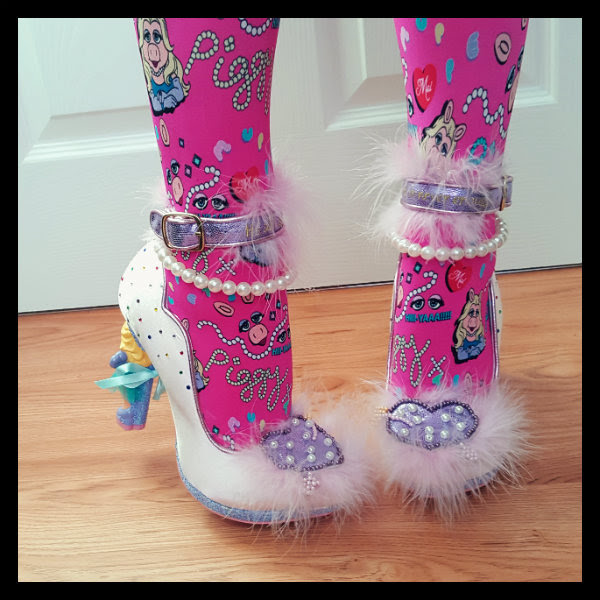 Irregular Choice All About Moi Miss Piggy shoes on feet