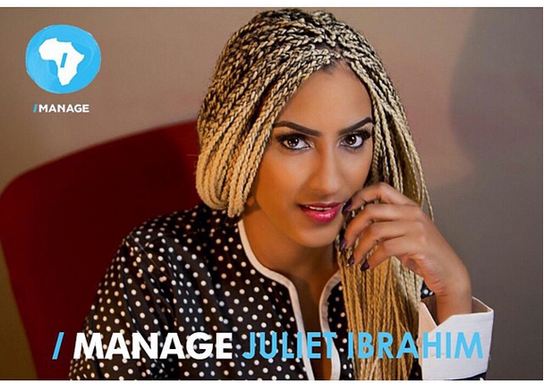 Actress Juliet Ibrahim signs on to I Manage Africa