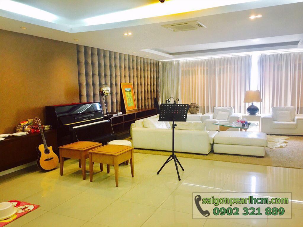 Cho thuê Saigon Pearl căn hộ 4 phòng ngủ 206m2 Ruby 1 view sông Sài Gòn - hình 6