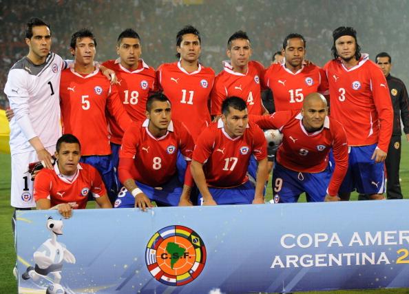 Formación de Chile ante Uruguay, Copa América 2011, 8 de julio