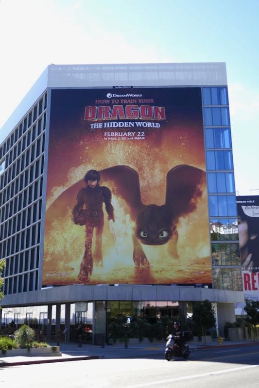 Giant How Train Your Dragon Hidden World billboard