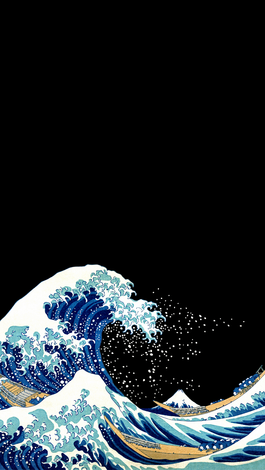 AMOLED Great Wave off Kanagawa