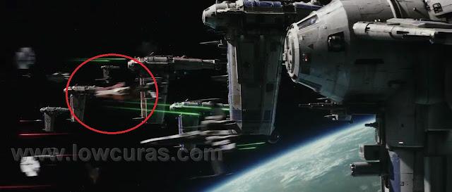 nuovo A-Wing nello spazio