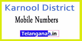 Karnool District Agriculture Officer-Phone Numbers/Mobile Numbers AndhraPradesh State