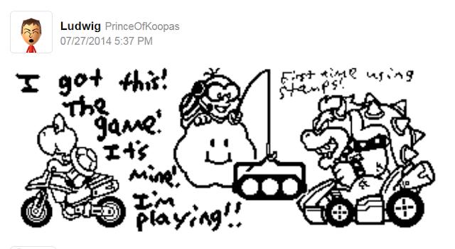 Mario Kart 8 Miiverse stamps Koopa Troopa Lakitu Bowser