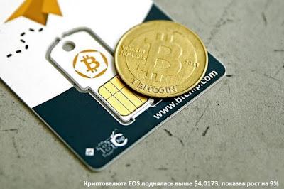 Криптовалюта EOS поднялась выше $4,0173, показав рост на 9%