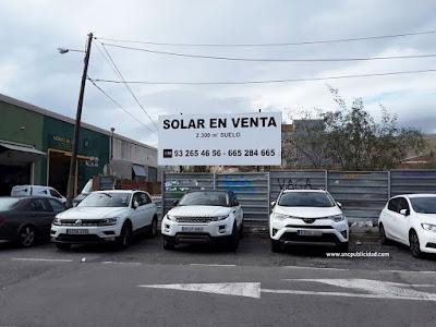 lona publicitaria para vender un solar