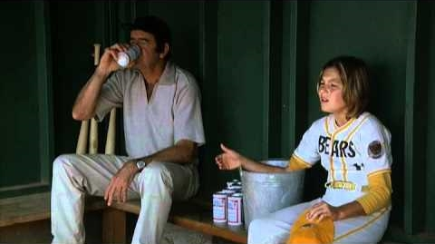 Who says there's no crying in baseball? Buttermaker (Walter Matthau) makes his pitcher (Tatum O'Neal) cry before the big game in THE BAD NEWS BEARS (1976)