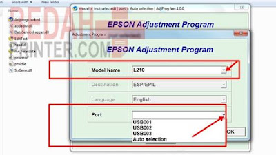 Cara Reset Printer Epson L210 Blinking