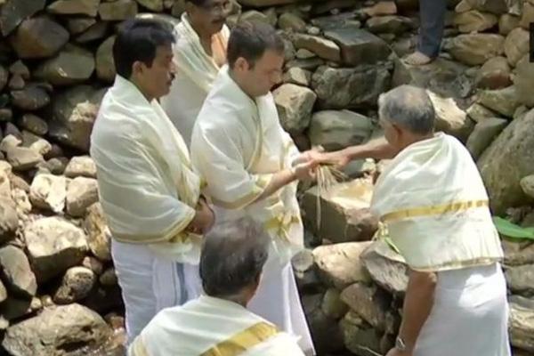 News, Wayanad, Kerala, Top-Headlines, Rahul_Gandhi, Election, Trending, Rahul visit Thirunelli Temple for Father's Prayers