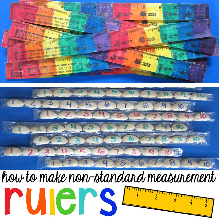 How to make non-standard measurement tools (rainbow rulers & bean rulers)for your early childhood classroom. My students will love using these