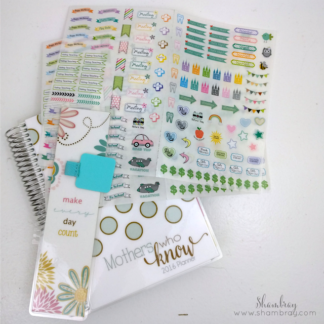 Pen holder, Stickers, planner bookmark