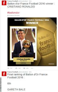 Ronaldo claims his 4th Ballon d'or title
